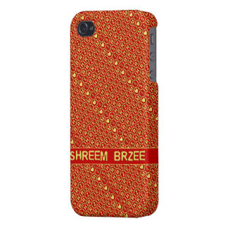 Red Gold Chant Shreem Brzee attract wealth iPhone 4/4S Cases