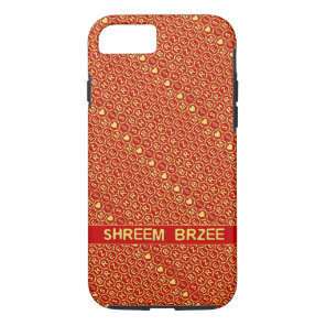 Red Gold Chant Shreem Brzee attract wealth iPhone 8/7 Case