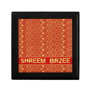 Red Gold Chant Shreem Brzee attract wealth Jewelry Box