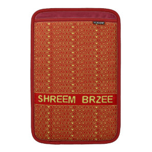 Red Gold Chant Shreem Brzee attract wealth MacBook Air Sleeve