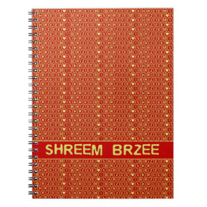 Red Gold Chant Shreem Brzee attract wealth Notebook