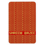 Red Gold Chant Shreem Brzee attract wealth Flexible Magnets