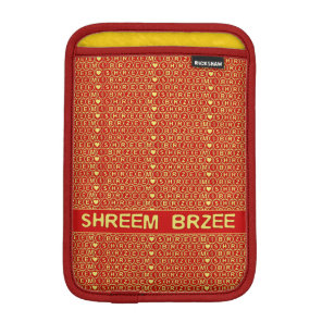 Red Gold Chant Shreem Brzee attract wealth Sleeve For iPad Mini