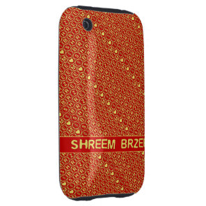 Red Gold Chant Shreem Brzee attract wealth Tough iPhone 3 Case