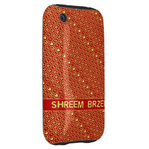 Red Gold Chant Shreem Brzee attract wealth Tough iPhone 3 Cases