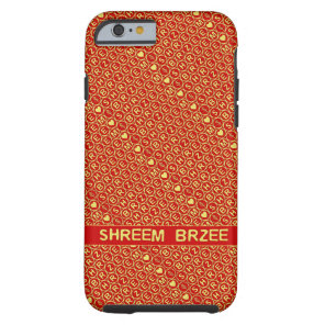 Red Gold Chant Shreem Brzee attract wealth Tough iPhone 6 Case