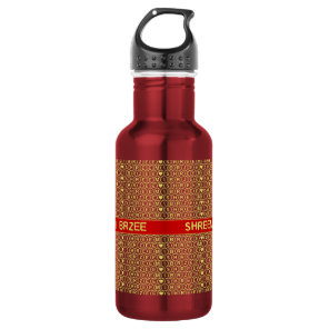 Red Gold Chant Shreem Brzee attract wealth Water Bottle