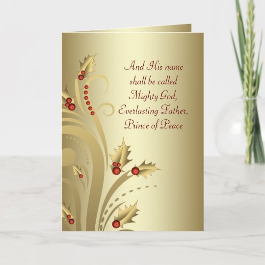Christian Christmas Greetings.Red Gold Christian Christmas Cards
