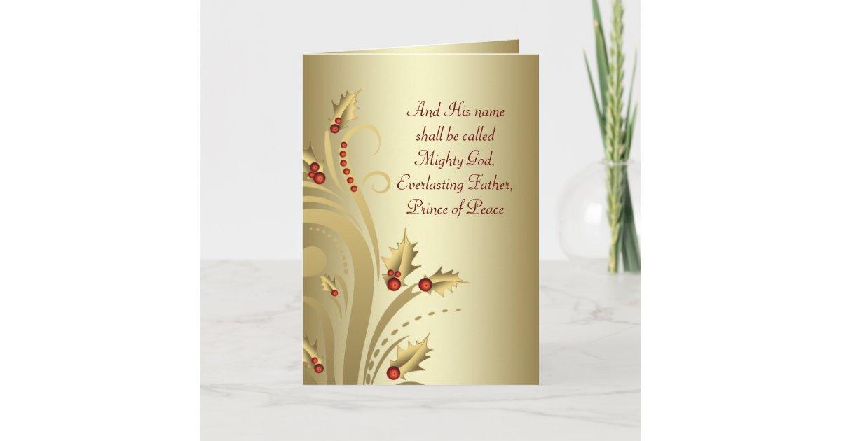 Red Gold Christian Christmas Cards | Zazzle.com