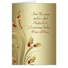 Red Gold Christian Christmas Cards at Zazzle