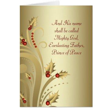 Christmas Themed Red Gold Christian Christmas Cards