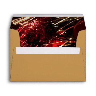 Red Gold Christmas Tree Envelopes