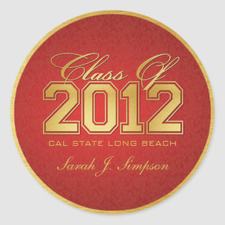 Red Gold Class of 2012 Stickers