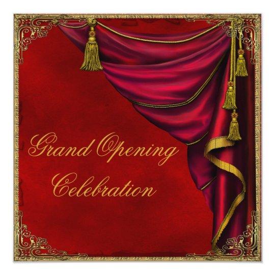 red gold corporate business grand opening invitation zazzle com