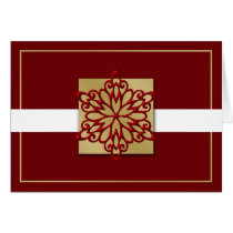 red gold Corporate holiday Cards
