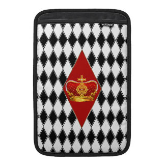 Red gold Crown & black and white Diamonds MacBook Air Sleeve
