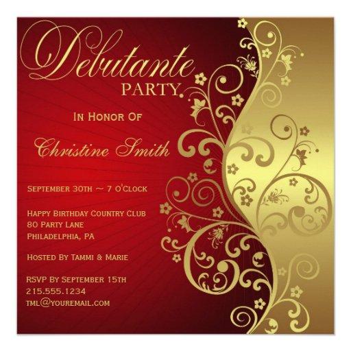 Personalized Debutante Invitations CustomInvitations4Ucom