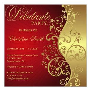 Debutante Invitations Announcements Zazzle