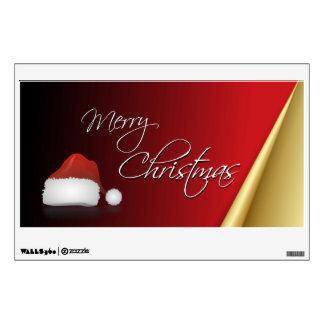 Red & Gold Elegant Christmas Wall Sticker