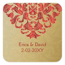 red gold envelope seal