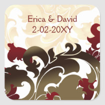 red gold envelope seal