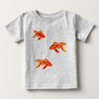 red gold fish t-shirt