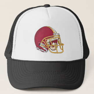 Red & Gold Football Helmet Trucker Hat