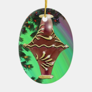 Red Gold Glass Bulb Christmas Tree Ornaments
