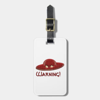 Red & Gold Hat Luggage Tag