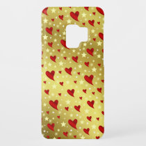 red,gold,hearts,Samsung, Galaxy, S9   case, case, Case-Mate Samsung Galaxy S9 Case