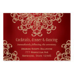Red Gold Indian Inspired Reception Enclosure Card Business Card Template