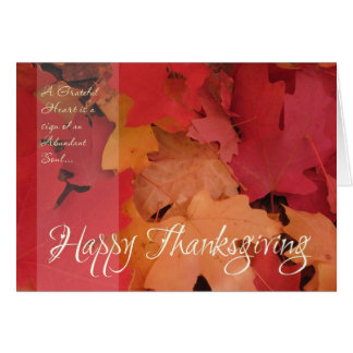 Red & Gold Leaf (1) Thanksgiving Card