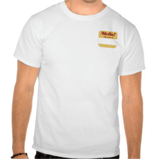Red & Gold Nametag T-shirts