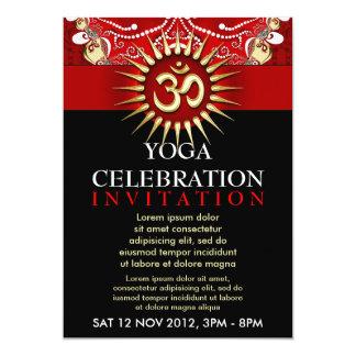 Red Gold OM Black Yoga New Age Workshop Invite