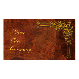 Red-Gold Ornamental Double-Sided Standard Business Cards (Pack Of 100)