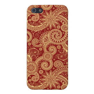 Red Gold Paisley iPhone 4 Case