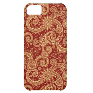 Red Gold Paisley iPhone 5 Case