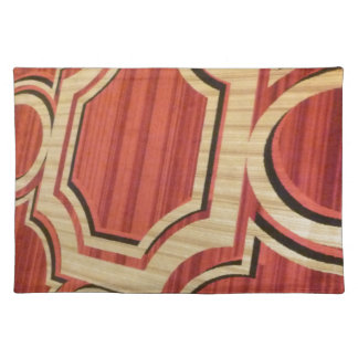 RED GOLD PATTERN CARPET LAS VEGAS CASINO RICH TEXT CLOTH PLACEMAT