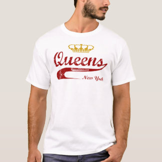 Red & Gold - Queens, New York City NYC T-Shirt