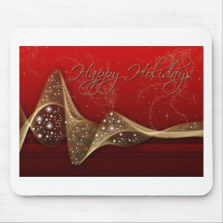 Red & Gold Ribbon Mouse Pad