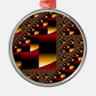 Red & Gold Round Ornament