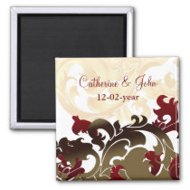 red gold Save the date magnet