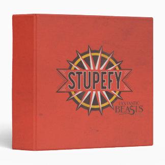 Red & Gold Stupefy Spell Graphic 3 Ring Binder