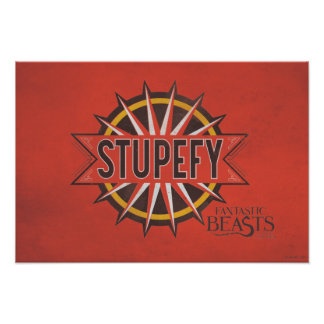 Red & Gold Stupefy Spell Graphic Poster
