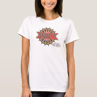 Red & Gold Stupefy Spell Graphic T-Shirt