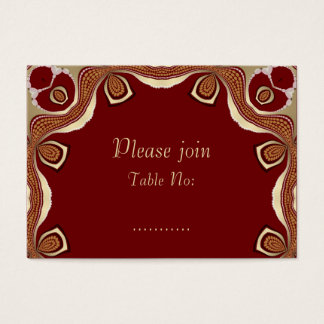 Red+Gold Tribal Royal Event Table Place Card