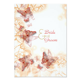Red gold wedding engagement anniversary personalized invites