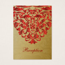 red gold wedding Reception Cards