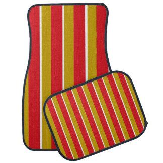 Red Gold White Stripes Car Mats Floor Mat