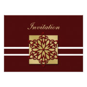 red and gold snowflakes winter wedding invites by mgdezigns
